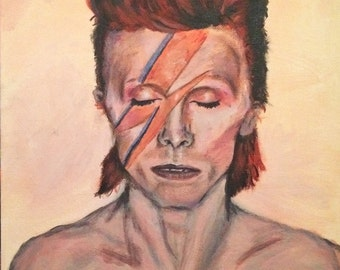 David Bowie acrylic painting