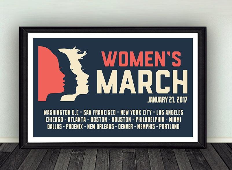 11x17 Women's March on Washington Anti-Trump Poster