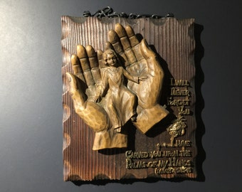 Vintage Wood Plaque German