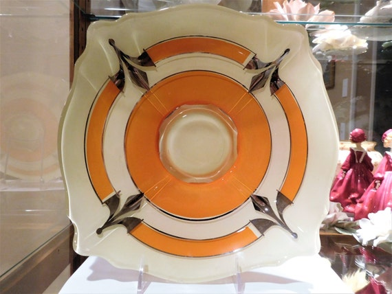 Indiana Glass / MODERNE CLASSIC / Art Deco / Console / Compote