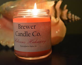 Hibiscus Hideaway Soy Blend Candle Brewer Candle Co