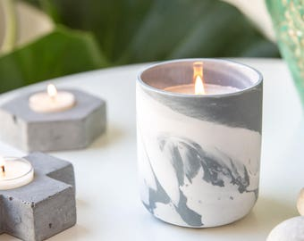 Grey Soy Candle Jar