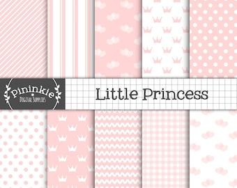 Bébé papier numérique rose - Bébé fille Scrapbooking papier - papier Invitation - bébé rose, Pastel Rose, rose, rose à pois,