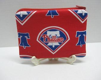 Philadelphia Phillies Baseball Team Zipper Pouch