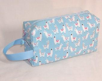 Llamas on Blue Project Bag
