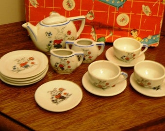 vintage play ... DOLLY DISH SET come for tea