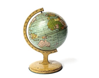Vintage J. Chein & Co. Lithograph World Globe