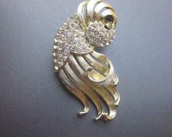 Lisner Rhinestone Vintage Brooch Lisner Jewelry