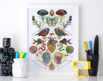 Limited Edition 'Meet My Maker #2' Fine Art Print - A3 29.7 x 42cm