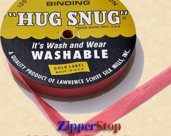 "BASQUE RED - Hug Snug Seam Binding - 100 yard roll 1/2"" Wide - 100% Woven-Edge Rayon - Sewing Trim & Craft Supply - Wholesale ribbon"