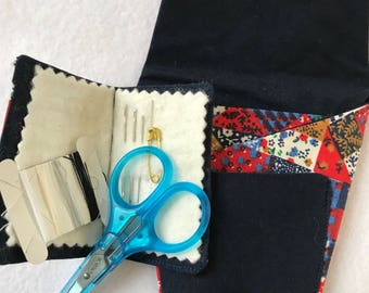 Sewing pouch with sewing kit