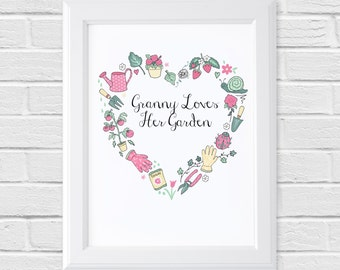 Personalised Gardening Print - Those Who Grow Collection - Gardener Gift