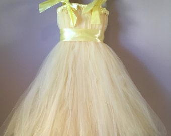 4/6 lemon yellow tulle dress