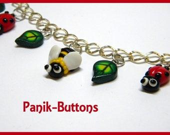 Bee and Ladybug bracelet