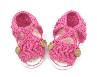 Baby Crochet Sandals - Baby Girl Sandals - Baby Sandals - Baby Shower Gift - Baby Girl Gift - Infant Sandals - Newborn Sandals
