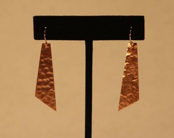 Hammered Rectangular Earrings