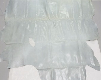 Blue Cowhide Leather Piece Hole for Upholstery, Handbags 43 sq.ft.