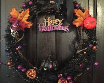 Halloween Party Wreath