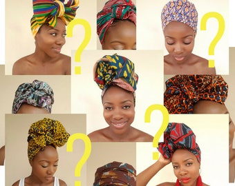 Surprise Print Head Wrap / African Print Head Wrap / Ankara Head Wrap / Gift / Turban / Wax Print