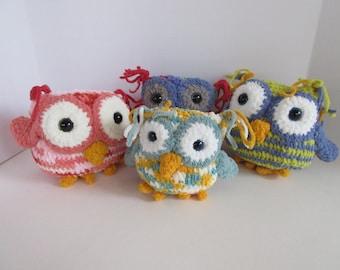 Crocheted Owls, Amigurumi, Owl Plushies