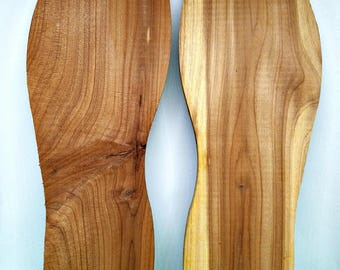 CLEARANCE - Plain Wood Foot Shapes - Left & Right - 9 x 3 x 3/8 Inch