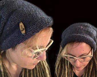 Dreadlocks tube, XXL, knitting, dreadlocks headband, dread headband blue knit tube, bright headband, oversized, rasta headband