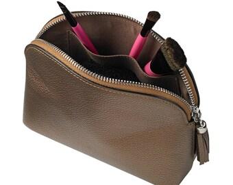 Leather Cosmetics Bag