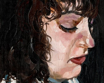 Portrait of a Girl - Portrait Painting, Giclee Art Print, Large Wall Art, Modern Portrait Art