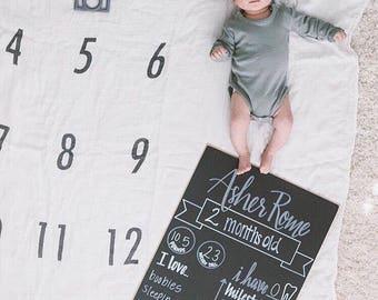 Monthly Milestone Baby Chalkboard