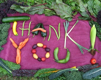 Thank You veggies greeting card