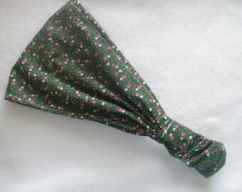 women or teen bandana style headband handmade and ready to ship