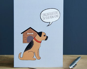 New Home Border Terrier card
