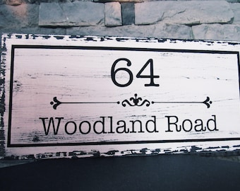 Home Address Sign. Personalized House Number Plaque. Address Plaque. Outdoor Sign. Wedding Gift. Housewarming Gift. House Number Plaque.