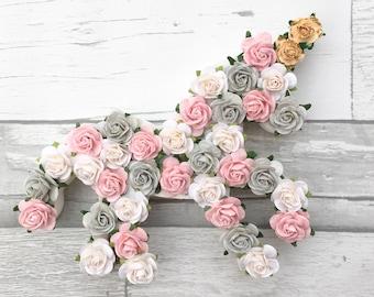 Custom made Floral unicorn// Babyshower gift// Christening gift// nursery decor