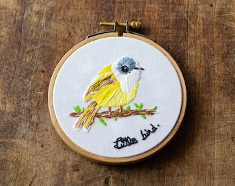 Embroidery - little bird