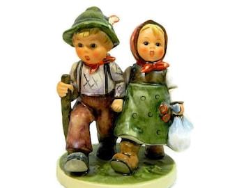 Hummel Double Figurine Going Home #383 Goebel West Germany TMK 6