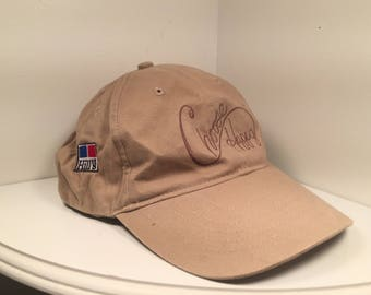 "Biege ""Choose Happy"" Script Dad Hat Tan on Tan ""Hills"""