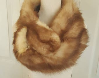 Luxurious German Sable Stone Marten natural Fur Boa/ Fur Stole