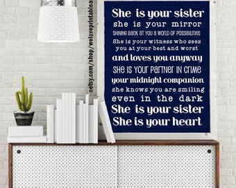 Gift Idea for Sister, Birthday Gift for Sister, Big Sister Gift, Sister Gift Ideas, Best Friend Sister, Friend Like a Sister Quote