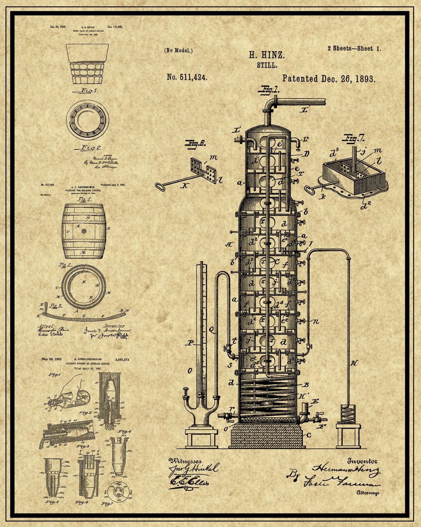 Whiskey Patent Print Downloadable Prints Vintage Whiskey