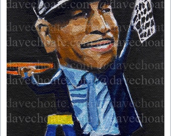 Photo print from an original painting of UCONN Huskies Coach, Kevin Ollie..