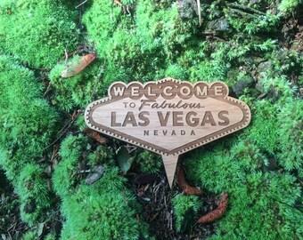 Las Vegas cake topper