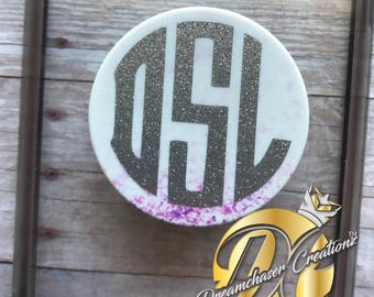 FREE shipping DECAL ONLY For PopSocket Monogram, Vinyl Decal, Glitter Decal, Pop Socket Decal, Monogram Decal