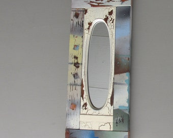 decorative mirror - Vintage Oval - feng shui- Original