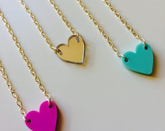 Heart | Emo | Love | Pastel | Dainty | Cute | Laser Cut | Acrylic | Necklace