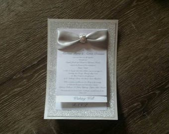 Hollywood Glamour Deluxe handmade Wedding Invitation