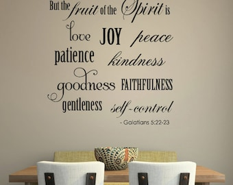 Wall Decal FRUITS of the SPIRIT Galatians Vinyl Wall Decal HUGE