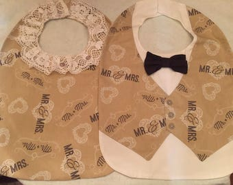 Adult Wedding Bibs/ Clothing Protectors (one set)