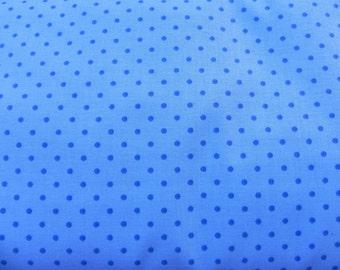 Fabric, light blue, dark blue points
