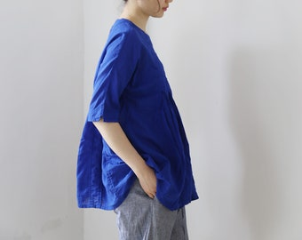 716---Women's Linen Blouse, Made to Order.